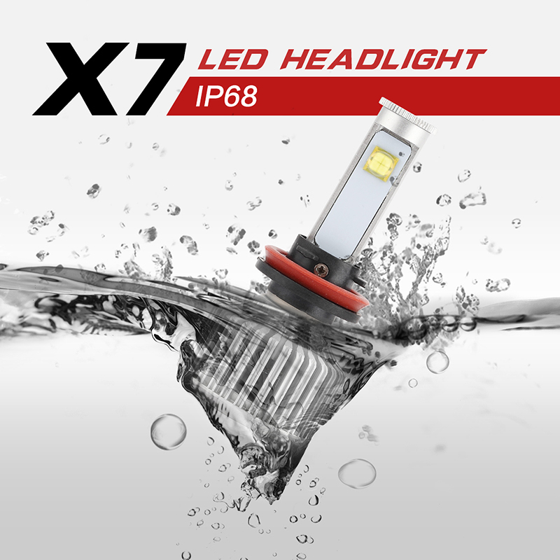 ФОТО H11 All-in-one Conversion  LED Headlight Conversion Kit 6K Cool White CREE Chips LED Replaces Halogen & HID Bulbs EA1523