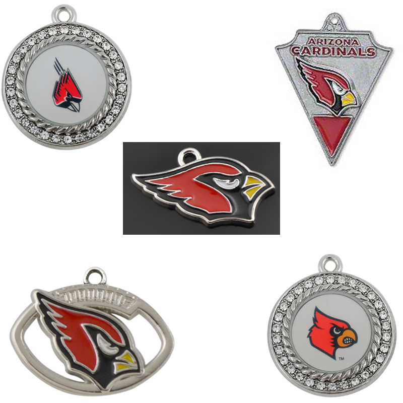 Sport Team Football Metal Enamel Pendant Charms Arizona Cardinals DIY Sport Fans Jewelry ...
