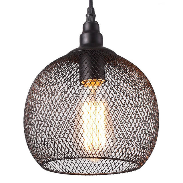 Wire Mesh Ceiling Light Use E26/E27 Bulb-in Pendant Lights from ...