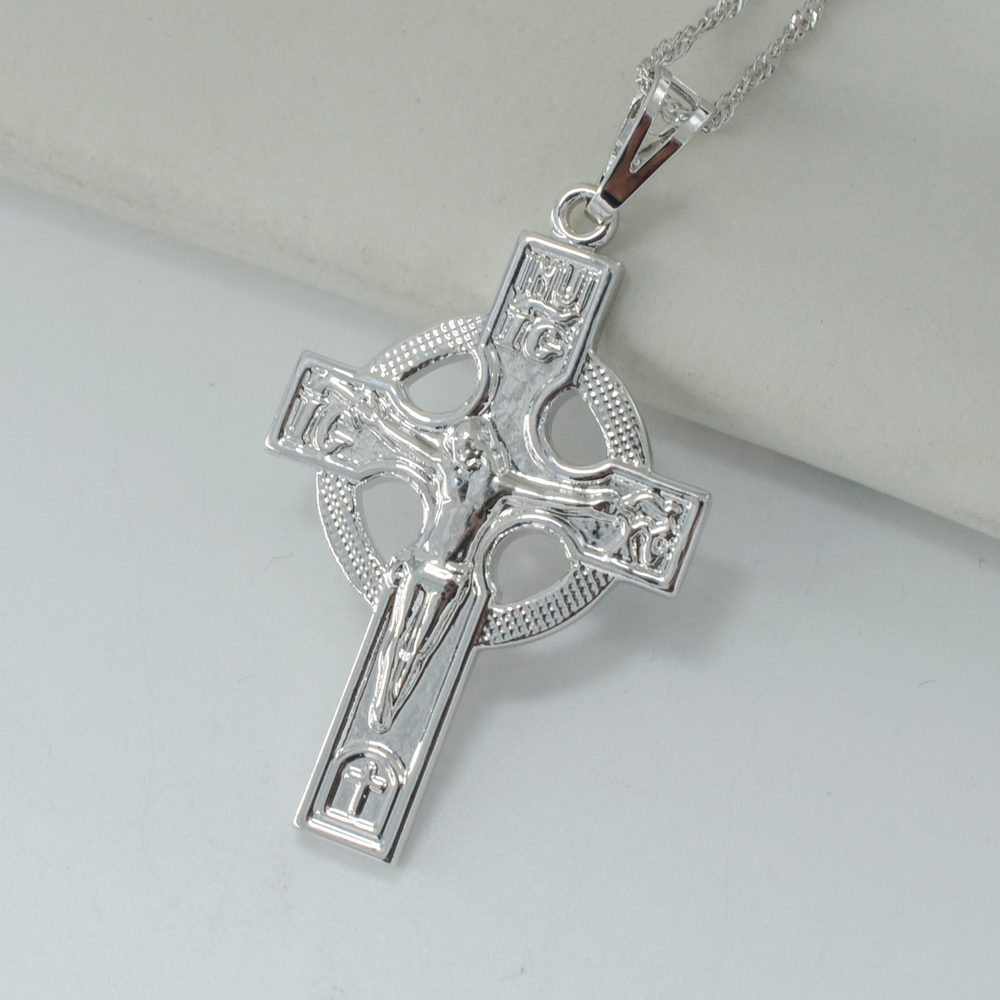 Anniyo icxc russian orthodox church cross necklace pendant for women anniyo icxc russian orthodox church cross necklace pendant for women silver color crosses jewelry circle christianity in pendant necklaces from jewelry aloadofball Images