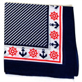 12pcs/lot Women's Girsls Mens Navy/Red Sailor Anchor Bandana 100% Cotton Bufanda Zandanas Head Wrap Hot Hiphop Square Headscarf