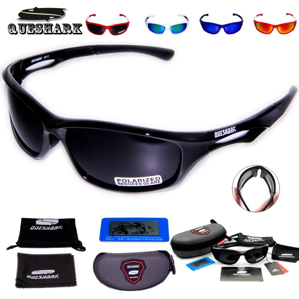 Prix pour Queshark TR90 Uv400 Professionnel Polarisé Vélo lunettes de Soleil Vélo Lunettes De Pêche Ski Lunettes De Soleil Sport Vélo Lunettes