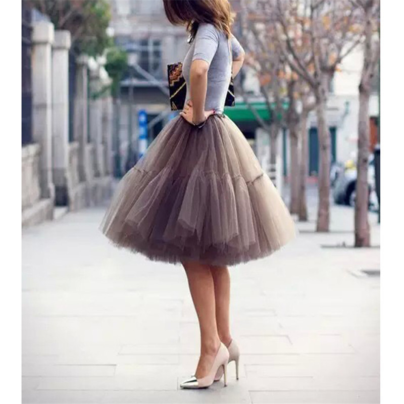 2016 new skirts tutu tulle skirts midi skirt