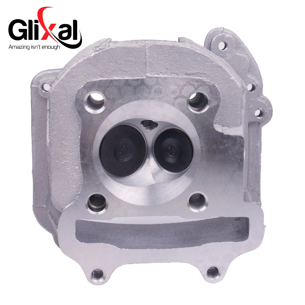 Glixal GY6 150cc Chinese Scooter Engine 57.4mm EGR Cylinder Head Assy with Valves for 4T 157QMJ ATV Go Kart Buggy Moped Quad go kart buggy quad hydraulic brake master cylinder pumpbms kandi roketa 125cc 150cc to 250cc 300cc accessories free shipping