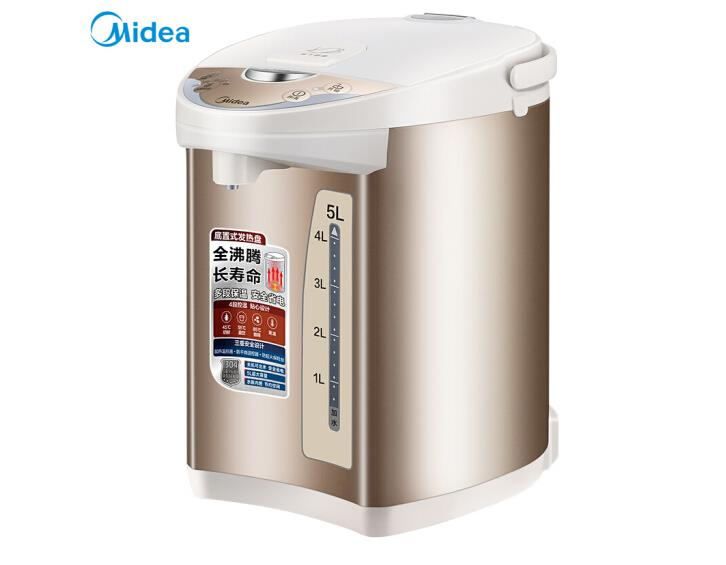 Midea Electric Thermos Kettle 304 Stainless Steel Household Thermos 5L Multi-stage Temperature Control Anti-scalding PF701-5
