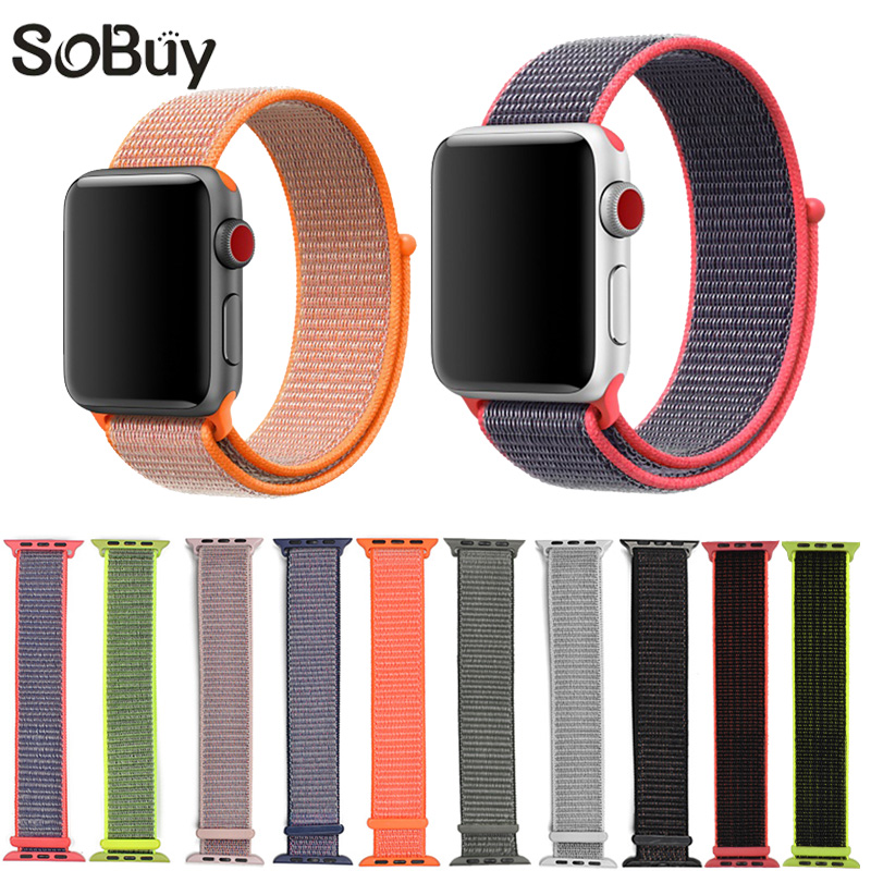 IDG sport woven nylon loop strap for apple watch band wrist braclet belt fabric-like bands for iwatch1 2 3 series 38mm 42mm