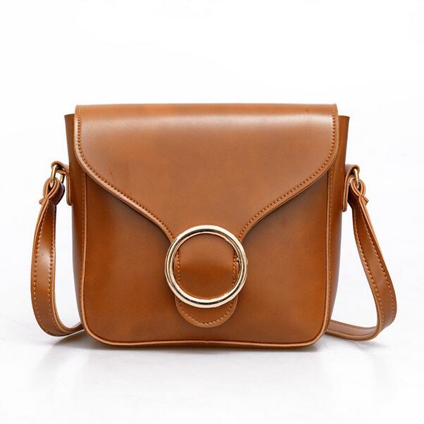 78799c9d1c63 Moda nuevos bolsos de alta calidad pu cuero mujeres bolsa retro británico  piel aceite pequeño paquete cuadrado hembra del mensajero del hombro