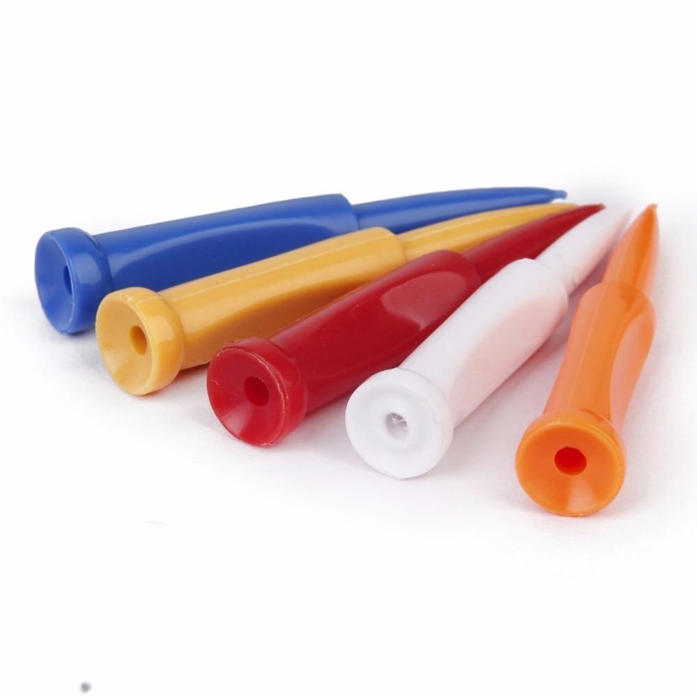 Caiton 5pcs New Plastic cement Bullet shape design Limit Golf Tees