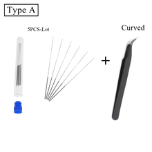 3D Printer nozzle cleaner Stainless Steel Nozzle Cleaning Needle Kits Nozzel Drill 0.4mm 3D printer Tool Parts Reprap Ultimaker