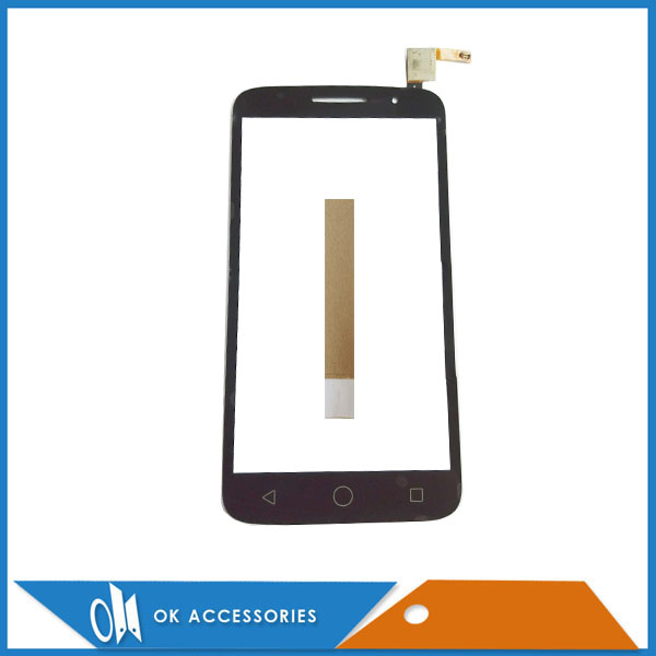 Black Color For Alcatel One <font><b>Touch</b></font> OT7043 O T7043Y 7043A <font><b>7043</b></font> <font><b>Touch</b></font> Screen Digitizer Screen With Tape image