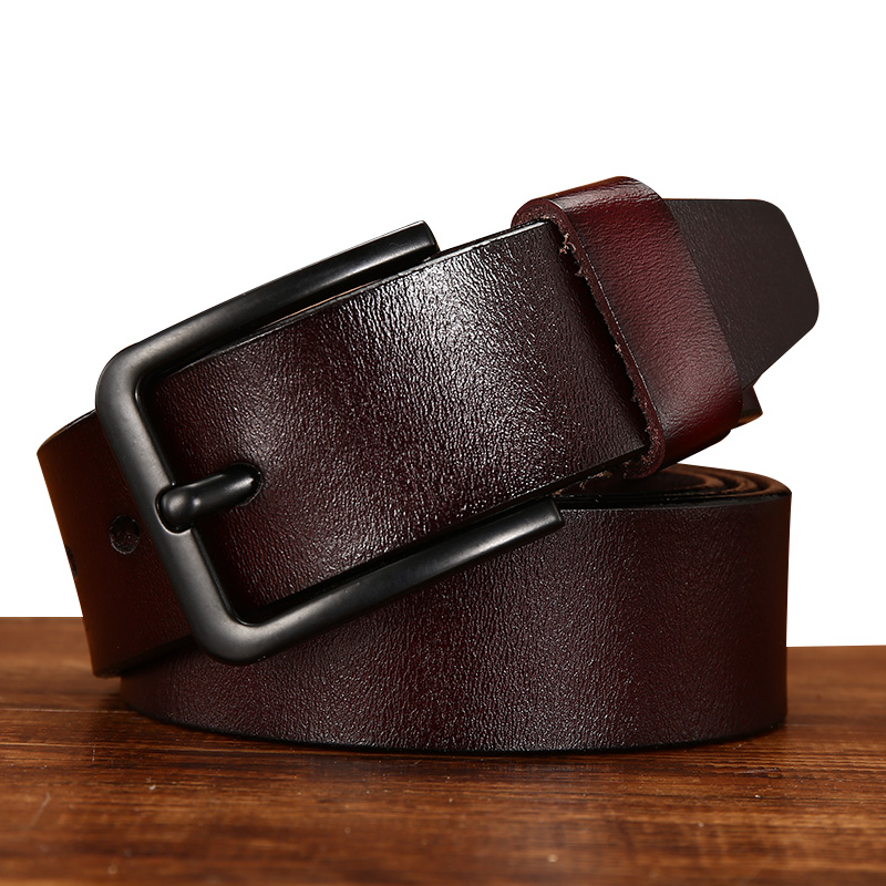 [DWTS]New Mens   Belts   Luxury Cowhide Genuine Leather   Belt   for Men Brand Strap Male Pin Buckle Fancy Vintage Jeans