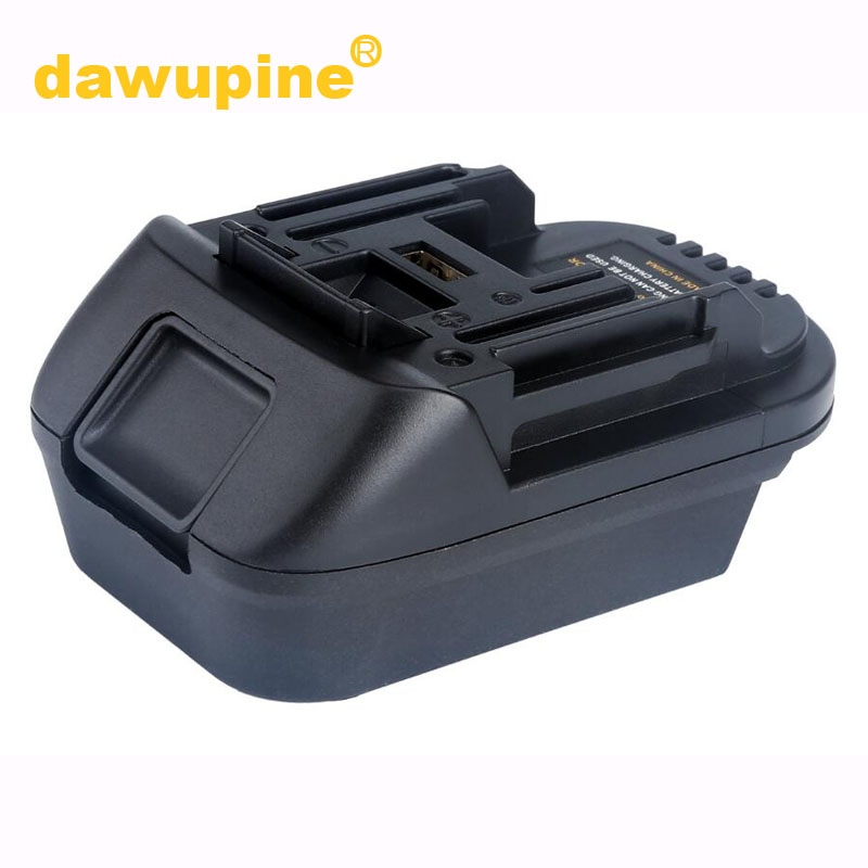Dawupine DM18M Battery Converter Adapter USB Charger For Milwakee 18V M18 For Dewalt 20V For Makita 18V Bl1830 Li-ion Battery