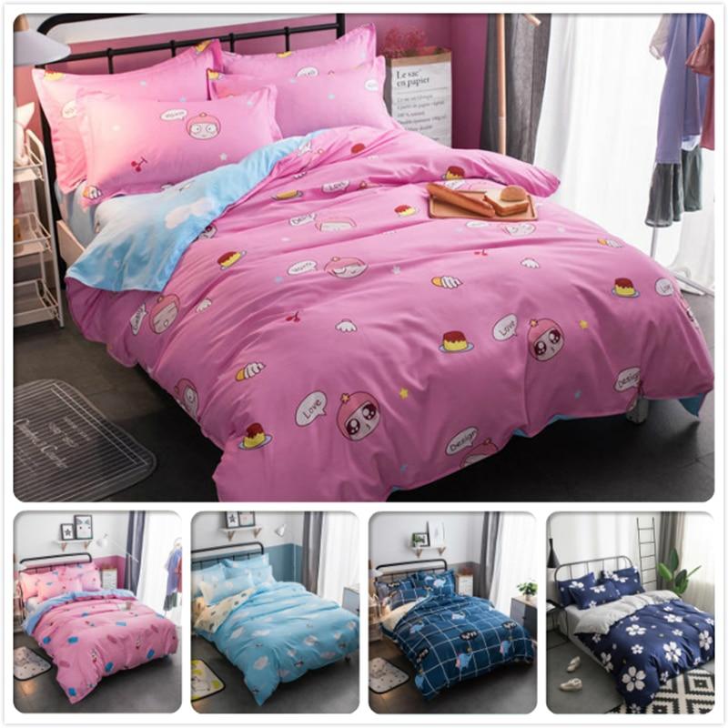 Bedding Set 3/4 pcs Cotton Bed Linen Kids Bedlinens 1.35m 1.5m 1.8m 2.0m Bedclothes single Twin Full Queen King Size Duvet Cover
