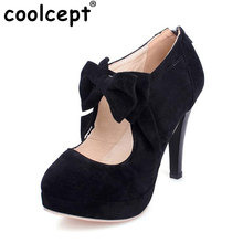 women round toe shoes woman thin heel pupms fashion bowtie bowknot high heel footwear heels party shoes plus size 30-47 PB00122