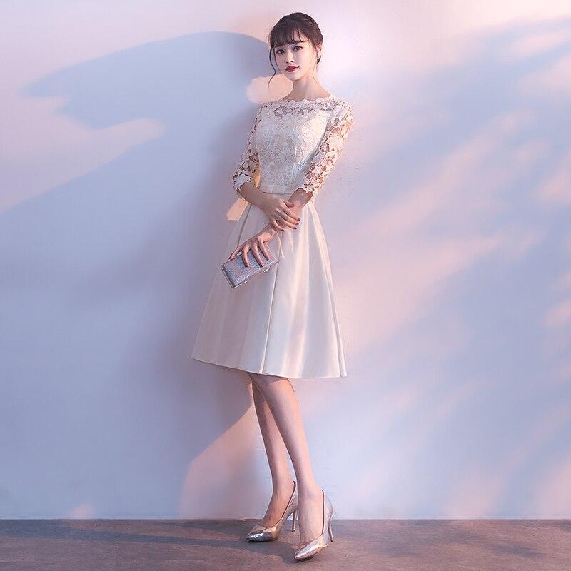 Kratka večernja haljina 2018 nova Elegantna O-vrata Jednobronska - Haljina za posebne prigode - Foto 2