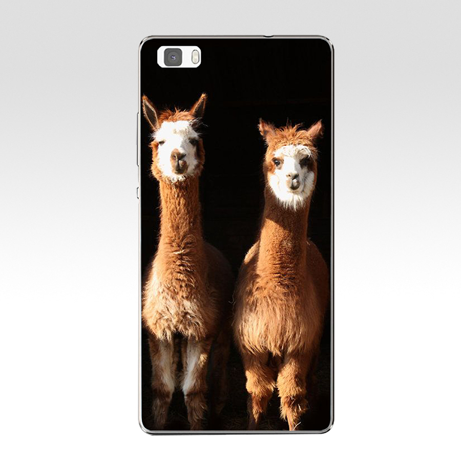 Alpacas Alpaca Christmas Hard Transparent Cover For Huawei P8 P8 P9 P10 Lite Y5 Ii Honor 4C 5C 7 8 &Amp; Nova