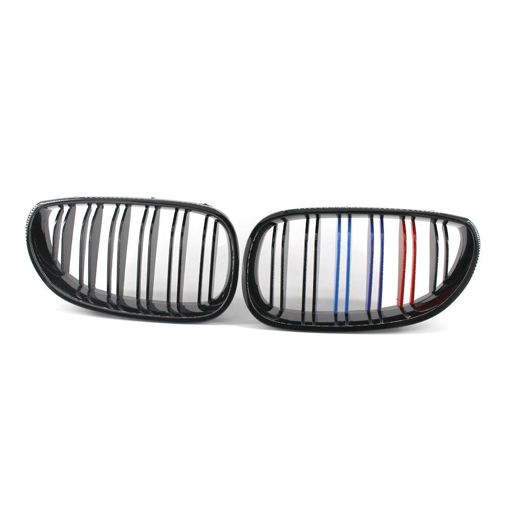 Grille de calandre Double lamelle noir brillant pour BMW E60 E61 5 Series M5 04-09 525i 528i 530i 545i 550i