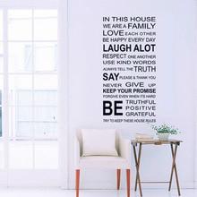 Naklejka na ścianę In this House Simple