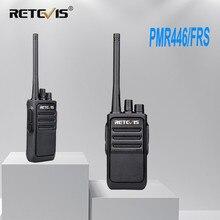 Um par retevis rt617/rt17 walkie talkies pmr rádio pmr446/frs vox usb carregamento acessível 2 way estação de rádio comunicador transceptor