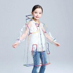Płaszcz przeciwdeszczowy dla dzieci EVA przezroczysty płaszcz przeciwdeszczowy z kapturem Outdoor Touring płaszcz przeciwdeszczowy na zewnątrz Camping Płaszcze przeciwdeszczowe    -