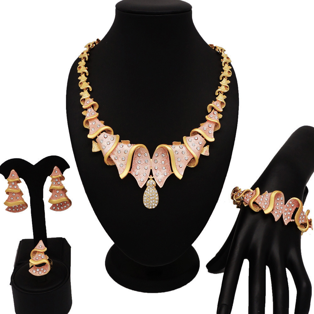NEW DESIGN  fashion jewelry sets 18K gold new design for african woman necklace