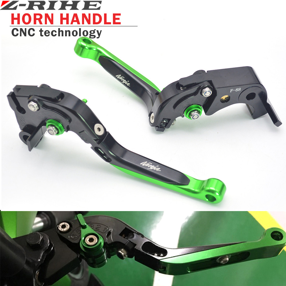 For Kawasaki Motorcycle Brake Levers adjustable Folding Bike extensible CNC Clutch For Kawasaki Ninja ZX636R  ZX6RR 2005-2006 hot sale motorcycle cnc 3d adjustable long brake clutch levers for kawasaki ninja 300r ninja 250r z125 z250 z300