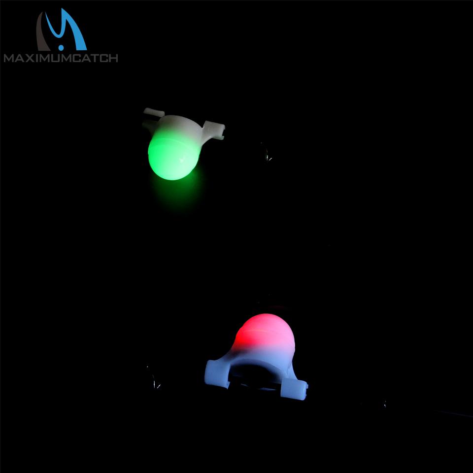 2 Pcs Fishing LED Rod Tip Night Light Strike Alert Glow Stick Bite Alarm