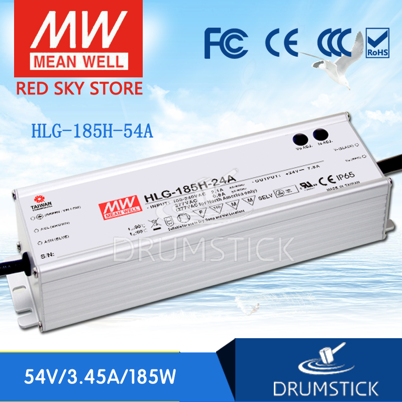 цена на Hot sale MEAN WELL HLG-185H-54A 54V 3.45A meanwell HLG-185H 54V 186.3W Single Output LED Driver Power Supply A type