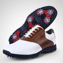 Marca pgm cuero genuino mens tour 360 boa boost impermeable golf deportes zapatos claveteados zapatillas pro tour estable y resistente al agua xz045