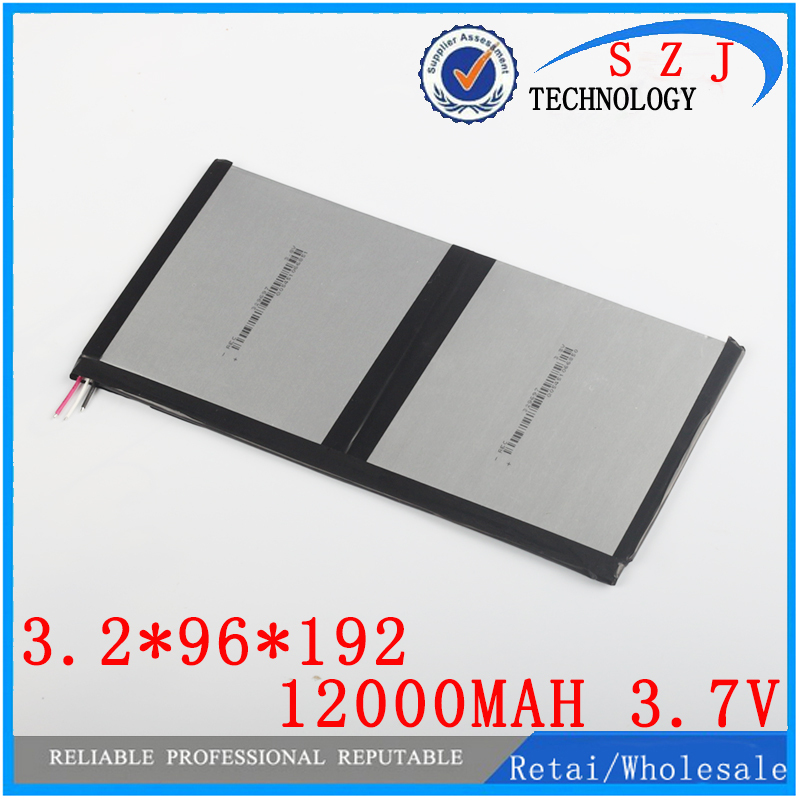 3.7v 12000mAh For Teclast X98 air 3G P98 3G, chuwi v99i Tablet PC Battery 3 wire Perfect quality of large capacity alternatives free shipping brand teclast taipower p76s tablet pc mid large capacity lithium battery 357090 panels