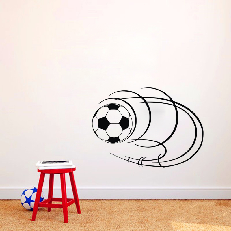 Line Around The Football Wall Stickers For Kids Rooms Vinyl Art Wall Decals  Removable Home Decor Wall Murals