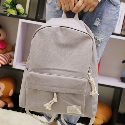 Fresh partysu style candy color design canvas simple women backpack middle school student book bag leisure backpack objective ielts advanced student s book with cd rom