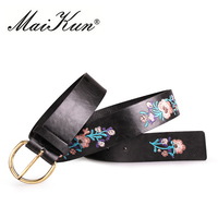 Vintage Embroidery Belts For Women Elegant Flower Waistband For Jeans Fashion Corset Belts For Women S