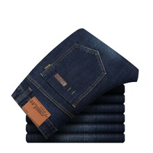 CONNER LEE Men's Jeans Straight Fitness Classic Denim Jeans Famous Brand Pants Casual Jeans Men's Business Formal Solid Jeans