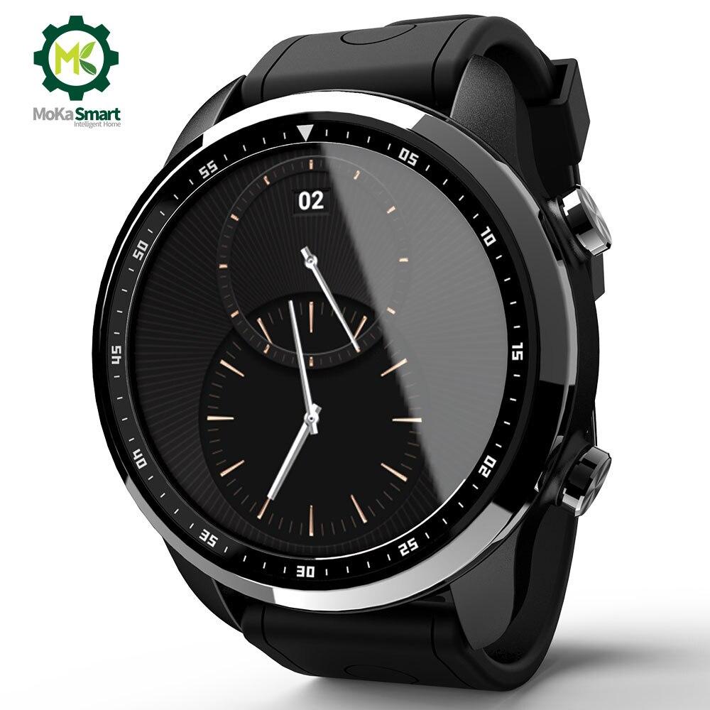 MOKA 4G Android SmartWatch Phone Bluetooth Heart Rate monitor 1GB/16GB  Waterproof WIFI GPS Men Smart Watch For ios
