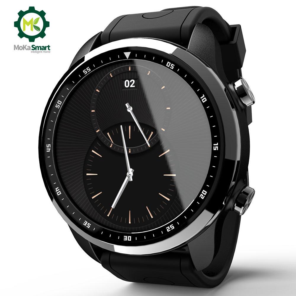 MOKA 4G Android SmartWatch Téléphone Bluetooth moniteur de Fréquence Cardiaque 1 GB/16 GB Étanche WIFI GPS Hommes Smart montre Pour ios
