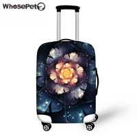 WHOSEPET Women's Flower Butterfly Thick Elastic Dustproof Luggage Protective Covers for 18-30 Inch Travel Case Cover Zipper