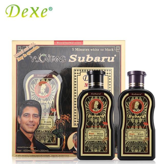 2pc1set Dexe Hair Color Black Hair Shampoo 200mlx2 Chinese Herbal
