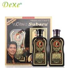2pc=1set Dexe Hair Color Black Hair Shampoo 200mlX2 Chinese Herbal Medicine Hair Dry No Contamination 5 Minutes White To Black