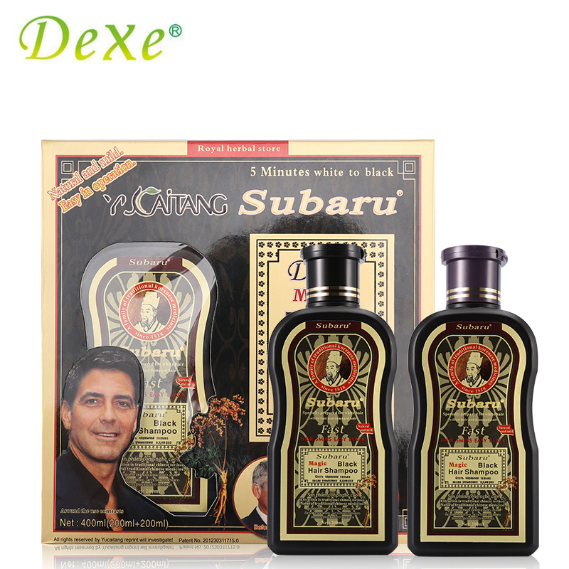 2pc=1set Dexe Hair Color Black Hair Shampoo 200mlX2 Chinese Herbal Medicine Hair Dry No  ...