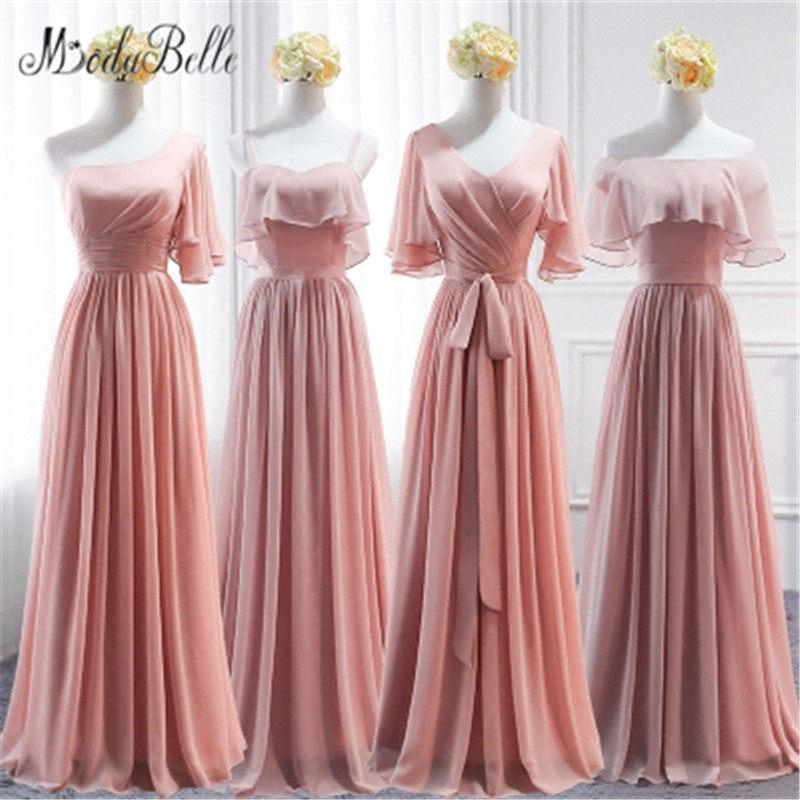 Tienda Online Modabelle Encaje Dusty Pink Vestidos de dama de honor ...