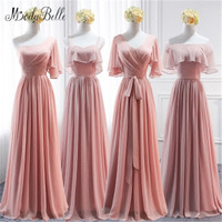 modabelle Chiffon Long Bridesmaid Dress Pink A line Women For Party Wedding Floor Length Robes Demoiselles D Honneur Adulte