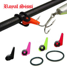 Hot Sale 5 pcs/Lot Multiple Color Plastic Fishing Rod Pole HooK Keeper Lure Spoon Bait Treble Holder Small Fishing Accessories