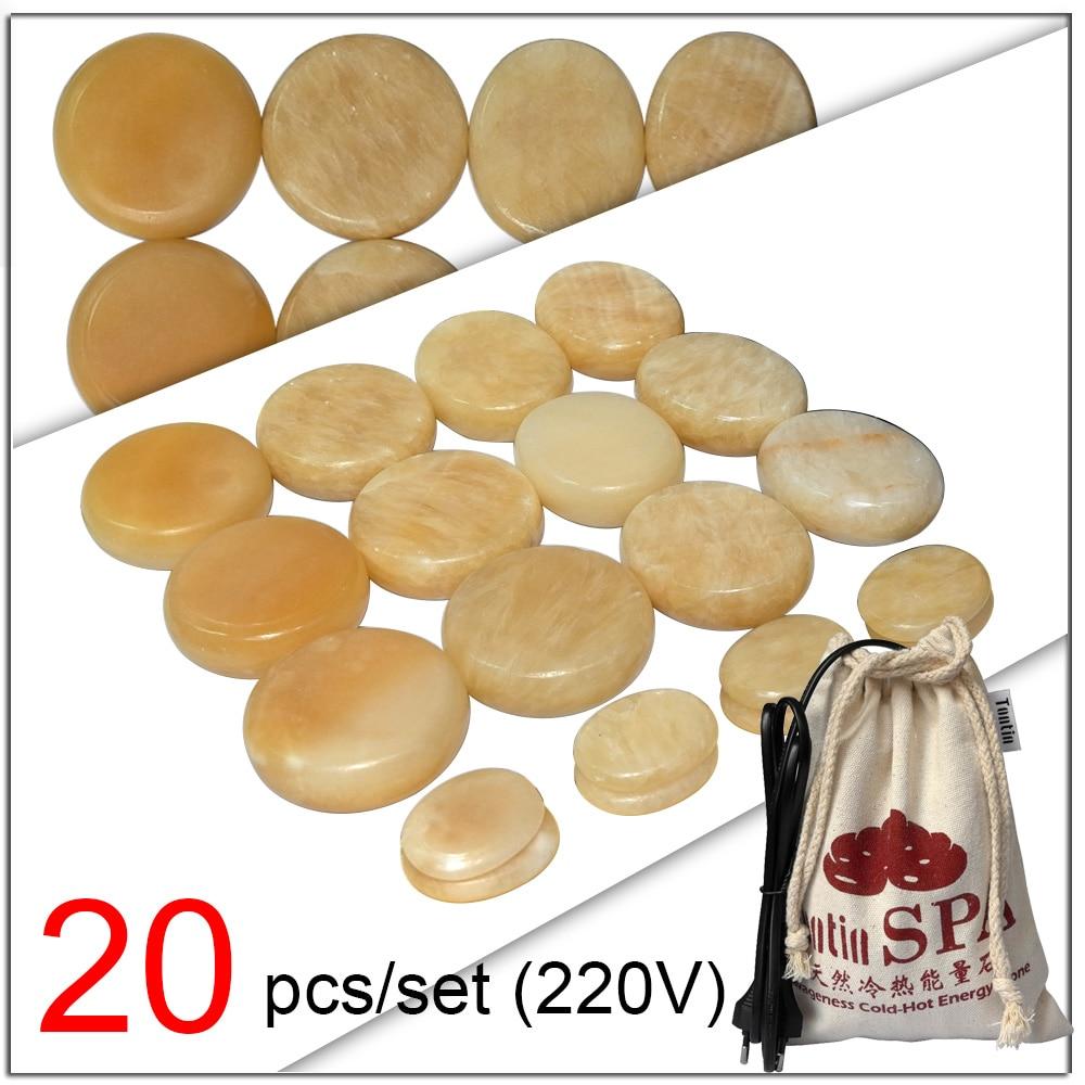 NEW Tontin Yellow Jade Body Massage Hot Stone Beauty Salon SPA tool Heating Bag
