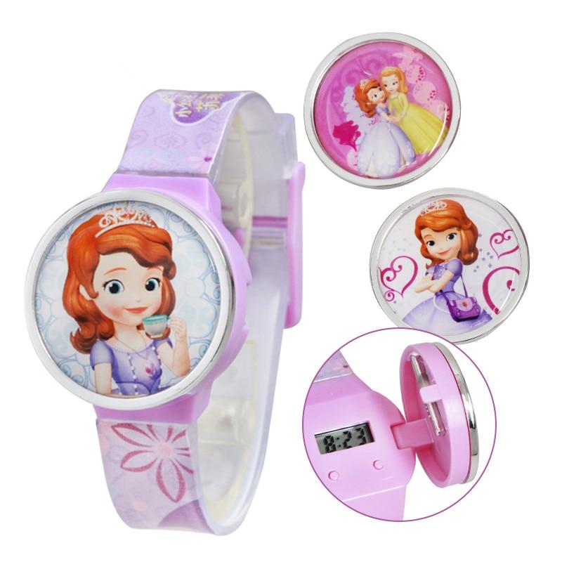 Quality In 100% Genuine Disney Cartoon Kids Watch Children Kids Elsa Frozen Watch Princess Casual Silicone Quartz Wristwatch Relogio Clock Superior