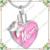 CMJ8555 memoria para mamá joyería pink resina moda mujeres collar de cenizas de cremación memorial colgantes