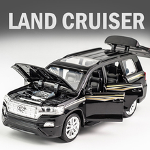 KIDAMI 1:32 سيارات لعبة تويوتا لاند كروزر سبيكة Diecast SUV نموذج سيارة التراجع الأطفال اللعب المعدنية على الطرق الوعرة المركبات هدية