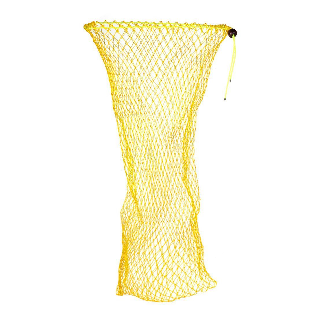 Folding Nylon Fishing Net Bag 90cm Long Hole Network 2cm x 2cm Yellow