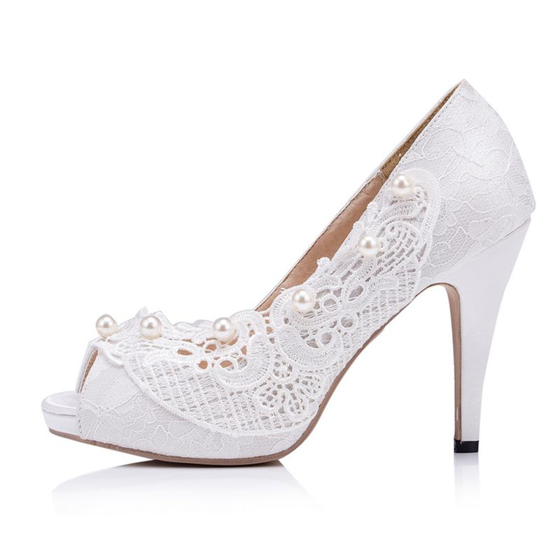 Peep  Toes  Wedding Shoes   Petal  Party  Shoes  High Heels  Bridal Shoes Platform Size  EU34-41  J615 20 colors custom 2016 ladies silver crystal high heel bridal shoes peep toes size 10 free shipping