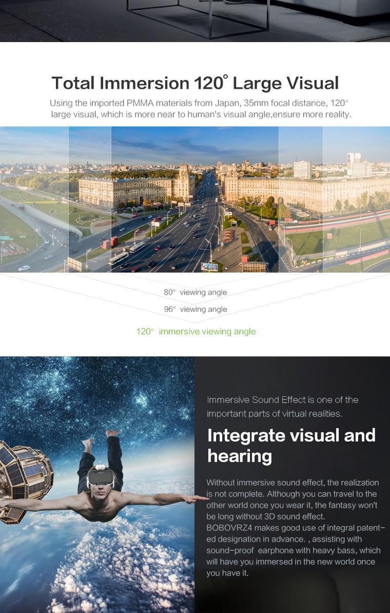 Original brand BOBOVR virtual reality 3D VR glasses near its territory Z4 best-selling Fit HD Large screen Smartphones 5